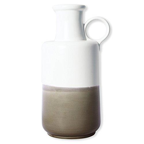 Bruno Evrard Vase en céramique Blanc et Beige 34cm - Fedora