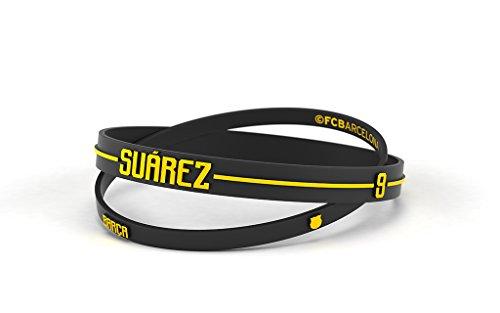 Pulsera Luis Suárez Fútbol Club Barcelona Estándar para Hombre | Pulsera Barça de silicona primera equipación | Apoya al FCBarcelona con un producto oficial culé |FCB