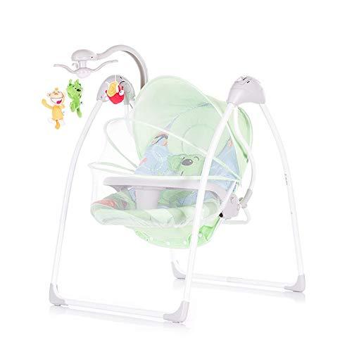 Chipolino Babywippe Serena 2 in 1, elektrisch, Fernbedienung, Tisch, Timer grün