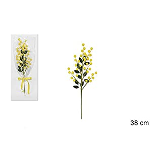 Anday srl 9 Branches of Mimosa 38 cm with Cellophane and Ribbon