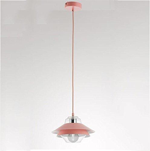 5 Light 25 Kronleuchter (Marcus R Caveggf Nordic Kreative DREI Glas Kronleuchter Restaurant Tisch Kronleuchter Schlafzimmer Studie Balkon Einzigen Kopf Dekorative Lampen, Lichtquelle E27, 25 * 17 cm, pink 5 watts led Light)
