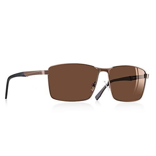GFF Vintage Retro Herren polarisierte Sonnenbrille Square Classic Herren Shades Sonnenbrille Male Eyewear UV400 AF8189