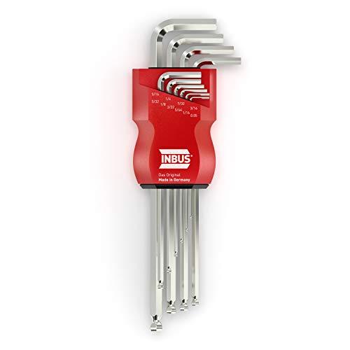 INBUS® 70419 Inbusschlüssel Set mit Kugelkopf 10tlg. Zoll 0.05-5/16