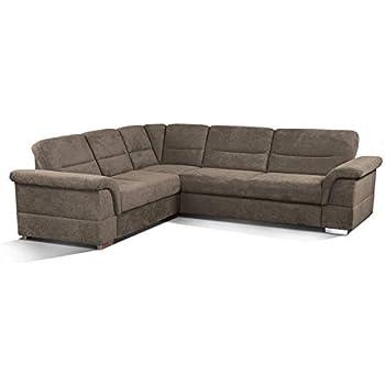 CAVADORE Ecksofa Tuluza / Moderne Couch mit Spitzecke