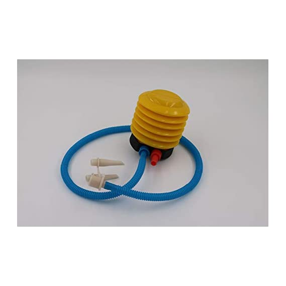 Sprugal - Foot Pump for Gym Ball (Yellow with Blue)