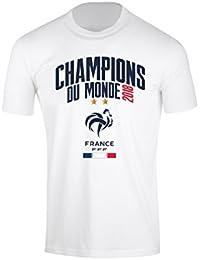 Equipe de FRANCE de football T-Shirt FFF - Champion du Monde 2018 - Collection Officielle