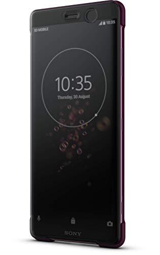 Sony Style Schutzhülle Touch 'SCTH70' mit Sichtfenster für Xperia XZ3, Rot Style-hülle