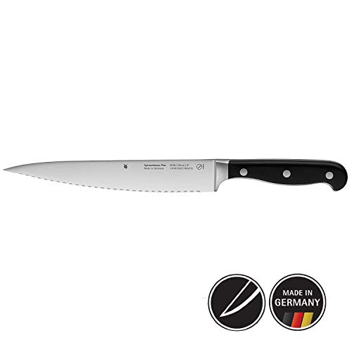 WMF 1895786032 Couteau de Cuisine Double Tranchant, Acier, Noir, 37 x 7,8 x 3 cm