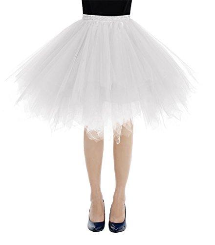 etro Petticoat Rock Ballett Blase 50er Tutu Unterrock White L (Tutu Kleid Für Frauen)