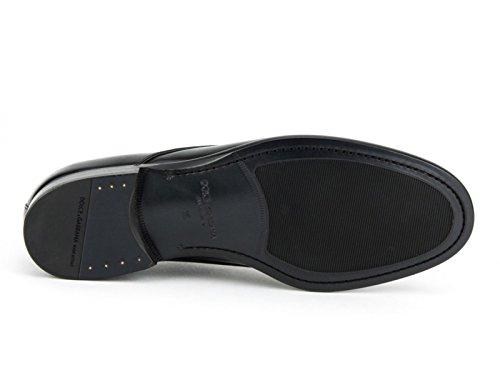 Chaussures à lacets Dolce & Gabbana en cuir brillant noir - Code modèle: A10007 AC460 80999 Noir