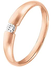 CHRIST Diamonds Damen-Ring 333er Gelbgold 1 Brillanten ca. 0,08 ct. (weißgold)