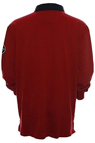 Kitaro Herren Langarm Shirt Poloshirt -Suncoast Race Series- Rot