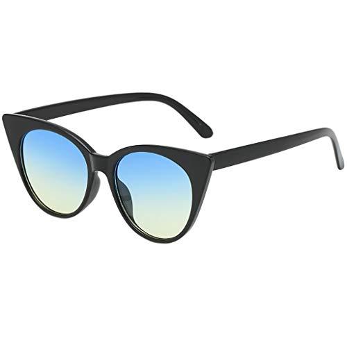 IYHENZ Classic Unisex Fashion Anti-Blendschutz Brille Anti-Reflektierend Sonnenbrille Sonnenbrille Mode Integrierte UV-Bonbonfarbene Gläser(D,1PC)