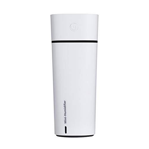Quaan USB Mini Luft Luftbefeuchter, Frau Mädchen Leise Ultraschall Büro Diffusor Ändern Süß LED Nacht Licht (Weiß)