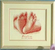 Pieds de bébé naissance Sampler Kit point de croix Motif