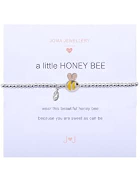 Joma Jewellery A Little Honey Bee Kinder Armband, Silber
