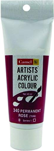 Camlin Kokuyo Artists' Acrylic Colour Tubes 40 ml -Permanent Rose 340