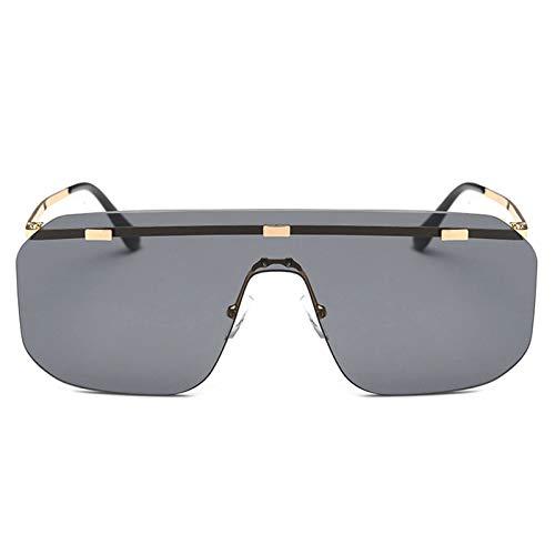 Aeici Brille Herren Fur Sonne PC + Resin Rahmenlose Sonnenbrille Schwarz Sonnenbrillen