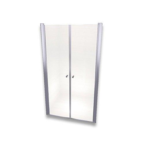 Porte de Douche 185 cm Largeur réglable 88-92 cm Transparent