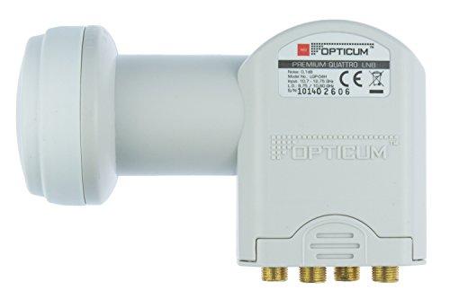 Opticum Quattro LNB - LRP-04H Kontakte (vergoldet, Full HD, 3D, nur in Verbindung mit Multischalter nutzbar)