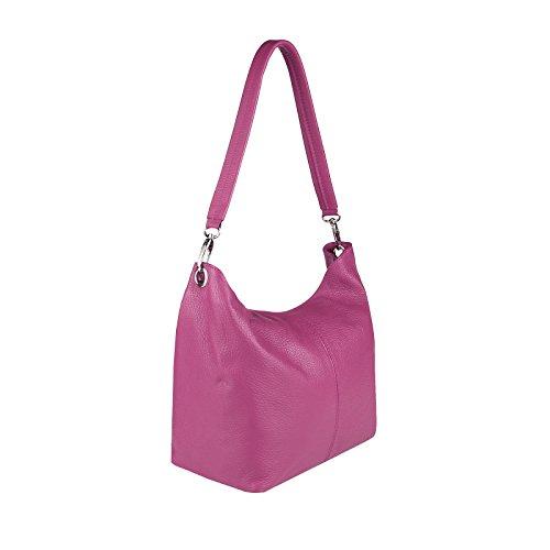 OBC Only-Beautiful-Couture, Borsa a spalla donna argento argento 37x24x13 cm (BxHxT) FUCSIA V1