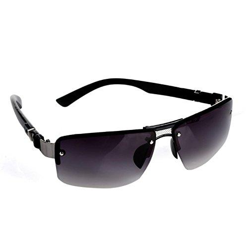 Lamdoo rechteckig Fashion Herren Sonnenbrille, mit Aviator mit fahren Brillen Mia, dunkelgrau, Lens Height: Approx. 42mm/1.65
