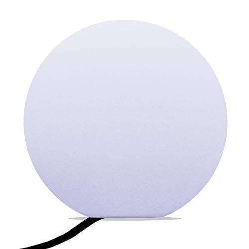 PK Green Erstklassige LED Stehlampe Kugel Modern Wohnzimmer 40cm   Glühbirne E27 Weiß Installiert   Kugelleuchte Leuchtobjekt Dekolampe für Schlafzimmer, Deko, Hochzeit, Party   Bodenlampe Innen Rund