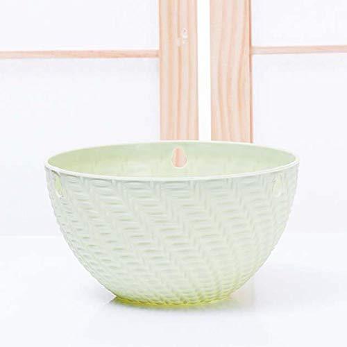Tingtin - Vaso da fiori pensile con foro di drenaggio, per balcone, davanzale, fioriera da giardino, decorativo, in rattan