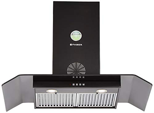 Faber 90 Cm 1150 M3/Hr Chimney (Hood Arco 3D Plus T2S2 Bk Ltw 90, 2 Baffle Filters, Stainless Steel)