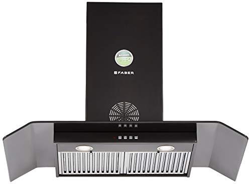 Faber 90 Cm 1150 M3/Hr Chimney (Hood Arco 3D Plus T2S2 Bk Ltw 90, 2 Baffle Filters, Stainless Steel)