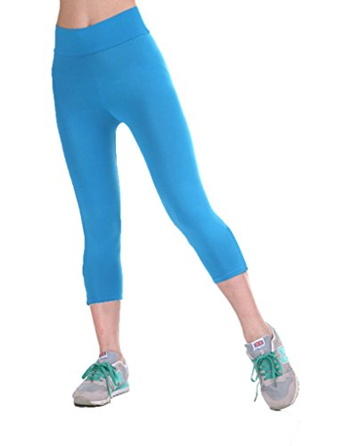 YR.Lover Women's High Waist Slim Stretch Capris Yoga Pants Sports Fitness Leggings