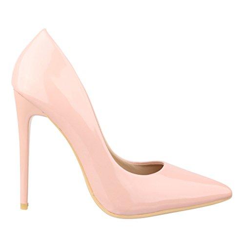 Pompe Da Donna In Pizzo Elara   Comodi Stiletti Laccati   Eleganti Tacchi Rosa Londra