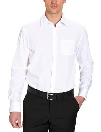Jacques Britt Herren Businesshemd Regular Fit 20.980634 Ken, Gr. 40 (M), Weiß (01 - white)