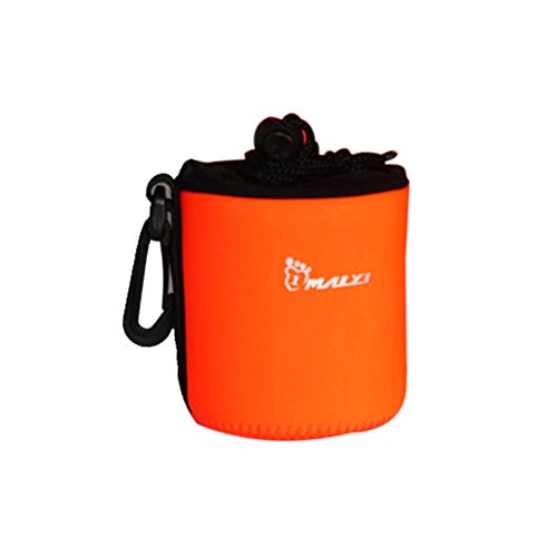 Pixnor Weiche Schutzkleidung Neopren Lens Pouch Tasche für Cannon Nikon Sony Olympus Kamera-Objektiv (Orange) - S