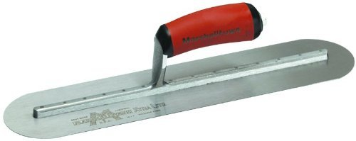 MARSHALLTOWN The Premier Line MXS224FD 22-Inch by 4-Inch Fully Rounded Finishing Trowel with Curved DuraSoft Handle by MARSHALLTOWN The Premier Line