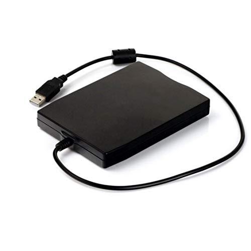 Prima05Sally 3,5 Zoll 1,44 MB FDD Schwarz USB Tragbares externes Schnittstellen-Diskettenlaufwerk FDD Externes USB-Diskettenlaufwerk für Laptop
