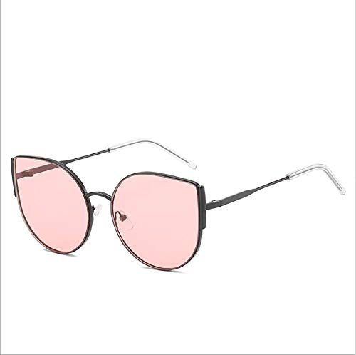 Flat Top Oversized Aviator Damen Herren Designer Retro Promi Sonnenbrillen,Pink