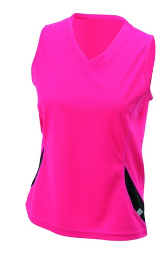 Ladies' Running Tank/James & Nicholson (JN 315) S M L XL, berry/schwarz, S (Tank Mesh Womens)
