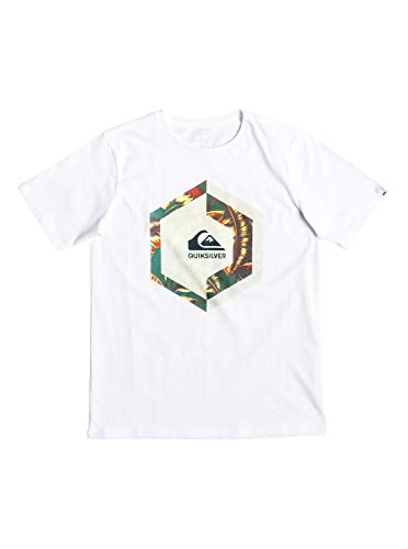 Quiksilver Jungen Heat Stroke T-shirt, Weiß, M/12 -