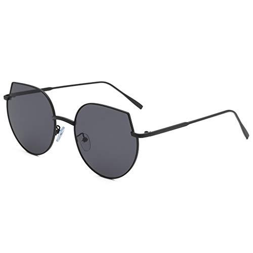 QUINTRA Sonnenbrille Unisex Federscharnier Metallgläser Retro-Stil unregelmäßige Form Sonnenbrille Brille