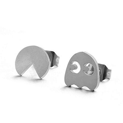 Europäische und Amerikanische Modeschmuck-Feine Reizende Silberne Edelstahl-Tierherz-Stern-Mond-Bolzen-Ohrringe für Frauen-Unbedeutenden Ohrring, Thumby, 5# (Edelstahl-bolzen-ohrringe)