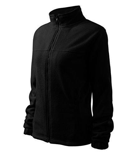 OwnDesigner by Adler Damen Elegante Fleecejacke Outdoor Pullover Fleece (Schwarz, S) -