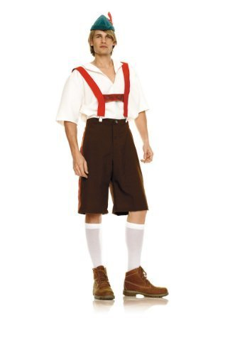 Herren Deutsch Lederhosen Kostüm - XL - braun (Lederhosen Deutsches Kostüm)