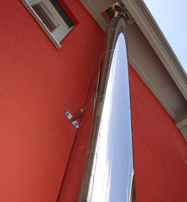 Preisvergleich Produktbild Edelstahlschornstein doppelwandig 150 mm - 4,9 m. Schornstein Bausatz - Wandmontage