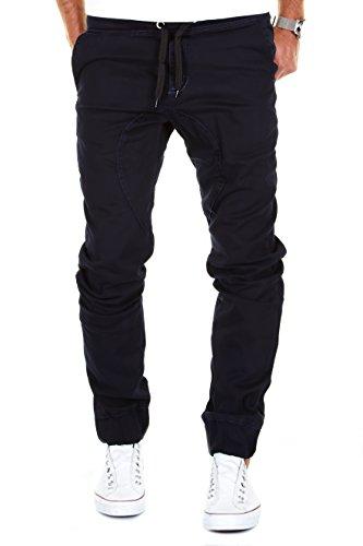 Merish Chino Jeans Jogging Hose Herren Jogger Pants Stoffhose J2054 Dunkelblau 36/32