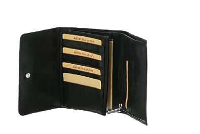 Arthur Et Aston Vachette Huilée 1252-170 Portefeuille Trois Volets Noir
