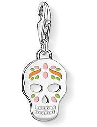 Thomas Sabo Mujer-Colgante-Charm Cráneo mexicano Charm Club Plata de ley 925 1436-007-25