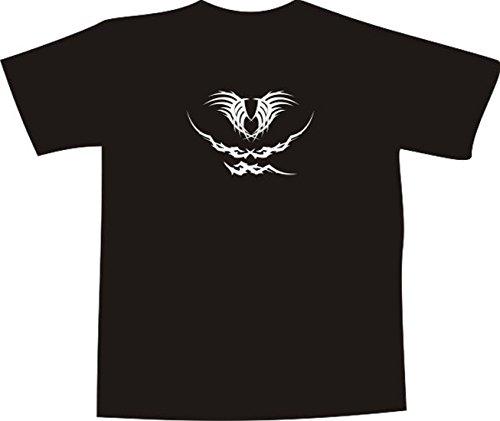 T-Shirt E377 Schönes T-Shirt mit farbigem Brustaufdruck - Logo / Grafik - minimalistisches Design - abstraktes Arschgeweih Schwarz