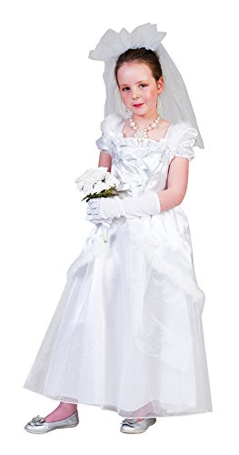 Braut Ruby Kostüm Mädchen Gr. 104 - Tolles Brautkleid mit Schleier