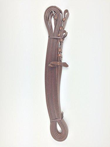 Zügel, langer Zügel zur Bodenarbeit, Langzügel, 6 m lang, Leder london -silberfarbene Schnallen